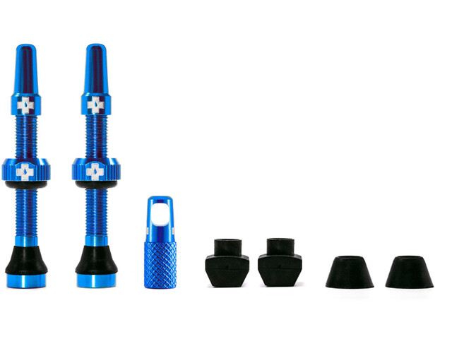Muc-Off MTB & Road Tubeless Valve Kit 60mm, blue